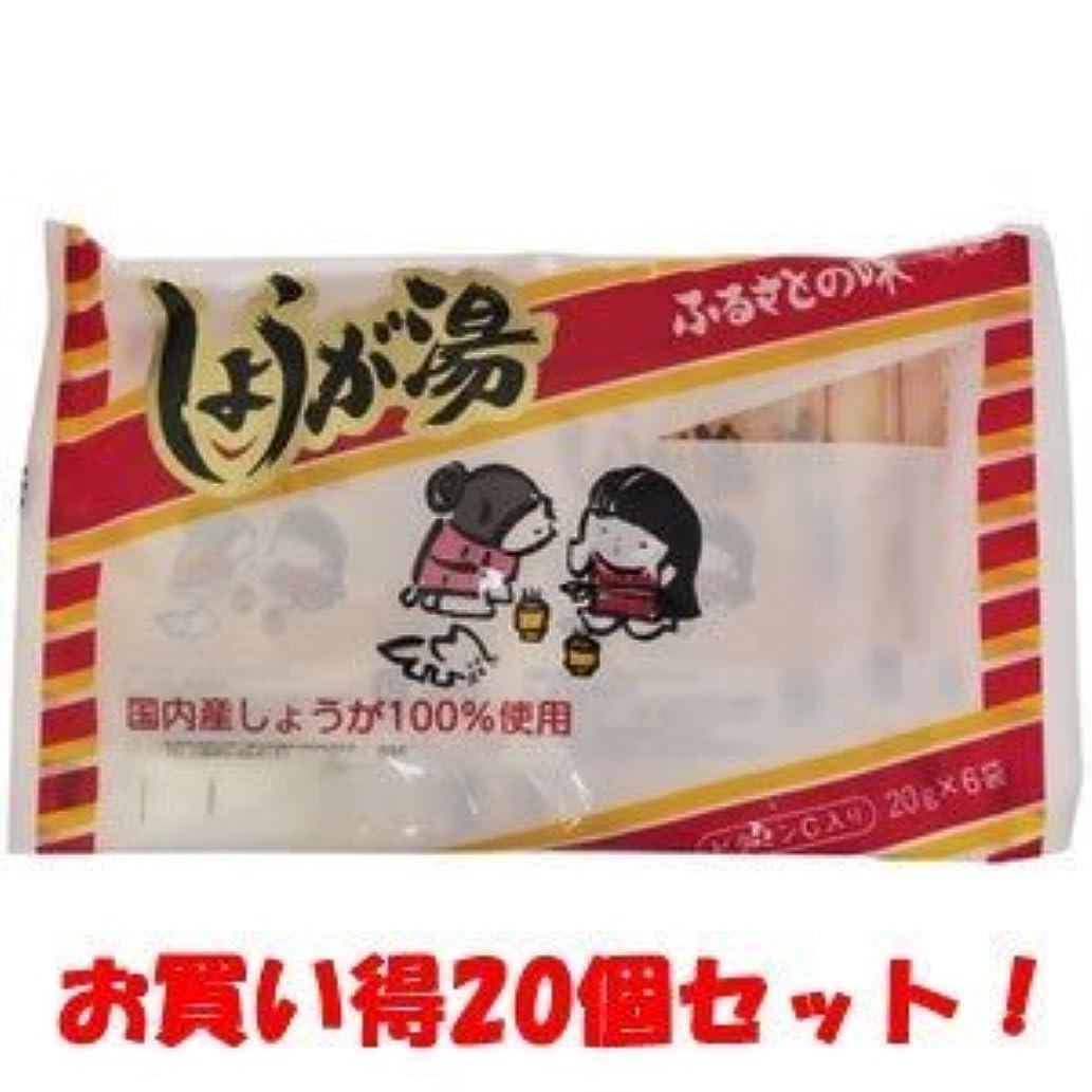 印象的ライターイル(今岡製菓)しょうが湯 20g×6袋(お買い得20個セット)