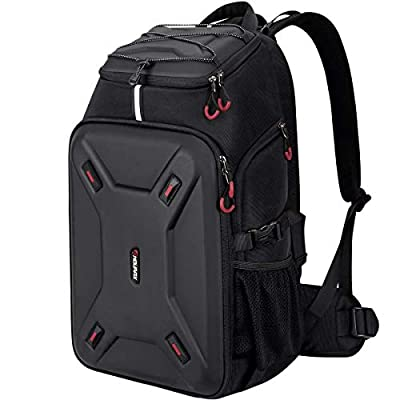 Endurax Extra Large Camera Backpack Hardshell Protection for DSLR Camera Gear or DJI Mavic 2 Mavic Air Spark Mavic Pro or Mavic Pro Platinum, Specialized Waterproof Drone Cameras Backpack(Black) from Endurax