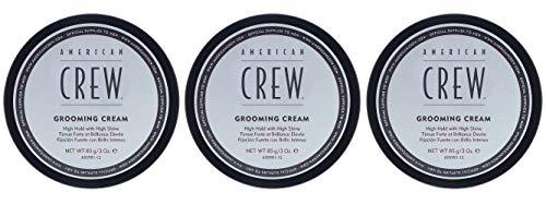 3er American Crew Grooming Cream Starker Halt Viel Glanz 85 g