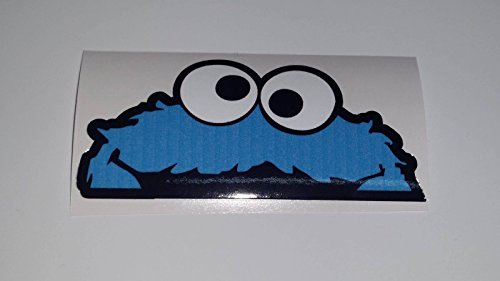 Cookie Monster JDM Peeper Krümmel Sesamstrasse Fun Sticker Aufkleber