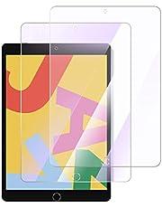 【 2枚セット& 日本旭硝子製 & 進化型】 ipad 10.2 用 ガラスフィルム ブルーライトカット 目の疲れ軽減 高透過率99.9% 3D全面保護フィルム 強化ガラス 硬度9H 自動吸着 指紋防止 iPad 10.2(ipad 8世代/ipad 7世代) 用