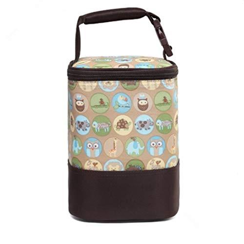 Alumuk Isoliertasche für Babyflaschen - Baby Flaschen Wärmer oder Kühltasche - Thermotasche für Muttermilch & Babynahrung - Faltbare Isotasche zum Einkaufen, Camping oder als Picknicktasche (Tiere)
