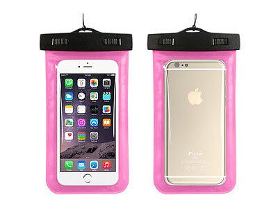 BEST SHOPPER Universal Waterproof Underwater Pouch Dry Bag Case Cover Cell Phone Swimming Bag Fits Most Mobile Phones - Pink