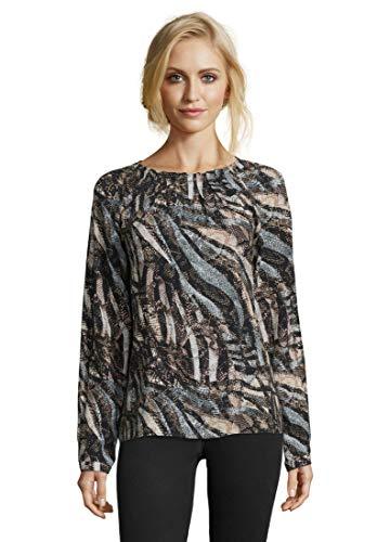 Betty Barclay Damen 6047/9782 Bluse, Mehrfarbig (Black/Camel 9873), (Herstellergröße: 48)
