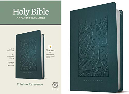 Compare Textbook Prices for NLT Thinline Reference Holy Bible Red Letter, LeatherLike, Earthen Teal Blue: Includes Free Access to the Filament Bible App Delivering Study Notes, Devotionals, Worship Music, and Video  ISBN 9781496444844 by Tyndale
