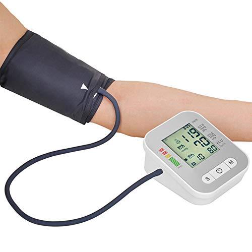 Monitor de presión Arterial Jumbo LCD Smart Electronic Sphygmomanómetro Tipo de Brazo Cargador Home Voice Automático Inglés Presión Arterial Medidor
