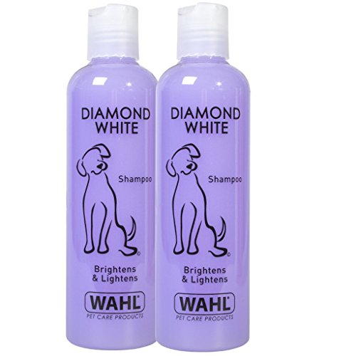 Wahl Dog Shampoo Diamond White Shampoo for Pets, Pack of Two 250 ml Each