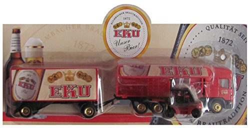 EKU Nr.37 - Unser Bier - Scania - Hängerzug mit Stapler beim beladen