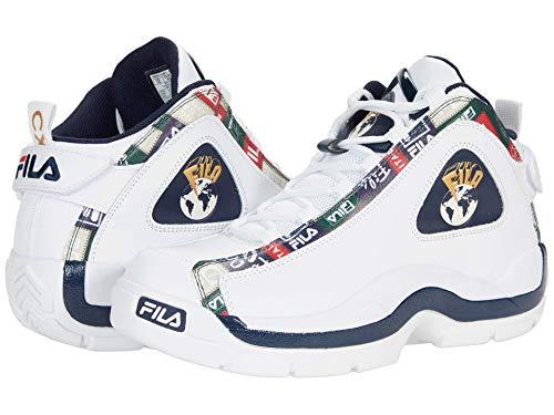 Fila Men's Grant Hill 2 Patchwork Basketball Shoes White/Fila Navy/Fila Red 8.5