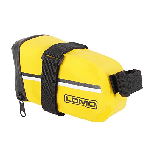 Lomo - Bolsa de sillín de bicicleta, impermeable - grande, color amarillo