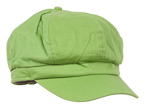 Cotton Elastic Newsboy Cap-Lime