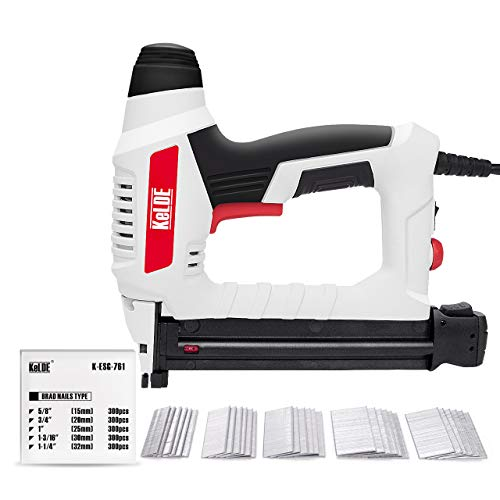 Electric Nail Gun Kit, KeLDE 120V Power Brad Nailer with Adjustable...
