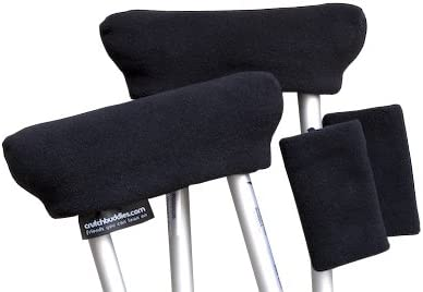 Black Crutch Pads Covers Don't miss the campaign Cushions Made by USA 2021 model in