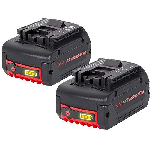 Dosctt 2 X 18V 5.0Ah BAT609 Reemplazo para Bosch Batería Profesional Sin...