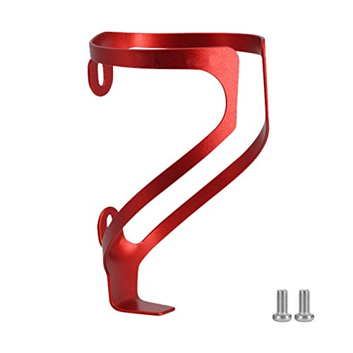 TSLBW Bike Water Bottle Cage Aluminum alloy Bike Water Bottle Holder Lightweight and Strong No Lost Bottles for Road, Mountain and Kids Bikes red