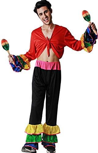 Gojoy Shop- Disfraz de Brasileño para Hombres Carnaval (Contiene Camiseta y Pantalón, Talla Unica)
