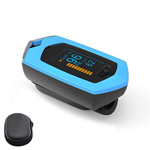 YC Oxímetro de Pulso Finger 3 in 1 Fingertip 0ximeter Fitness, Monitor de saturación de oxígeno con PR y la batería Recargable SP02 Trabajan continuamente Durante 20 Horas,Azul