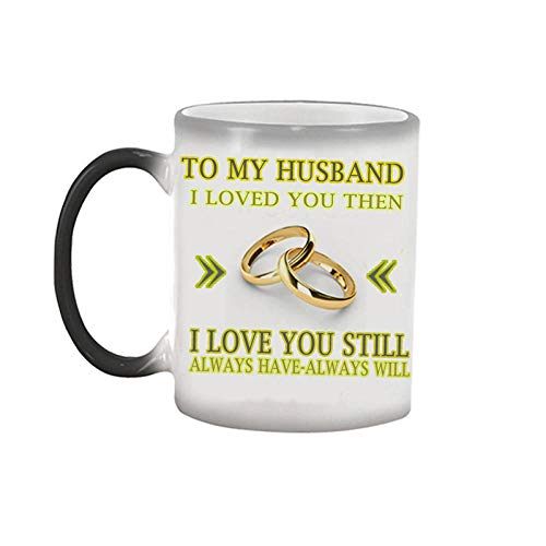 1 taza de café con leche con texto 'I Loved You Then I Love You Still Always Have Always Will to My Wife and Husband Tea Milk Coffee Mug-Style_2_Foam_Box