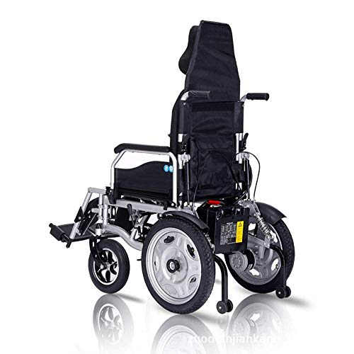 Disabele, elektrische rolstoel-afstandsbediening – vliegtuig voor reizen – compacte reis-helper – lichte rolstoel met wieltjes, inklapbaar voor binnen en buiten.