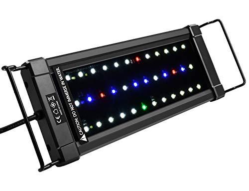 NICREW ClassicLED Plus HO Luz Acuario, Lámpara de Espectro Completo, Luz Impermeable para Acuario de Agua Dulce, 30-48 cm, 16 W, 570 LM
