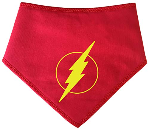 Spoilt Rotten Pets (S4 The Flash, Flash Gordon Bandana para Perros Grandes se Adapta a cuellos de 23 a 28 Pulgadas Marvel Comic Style Super Hero Capa para su Mascota