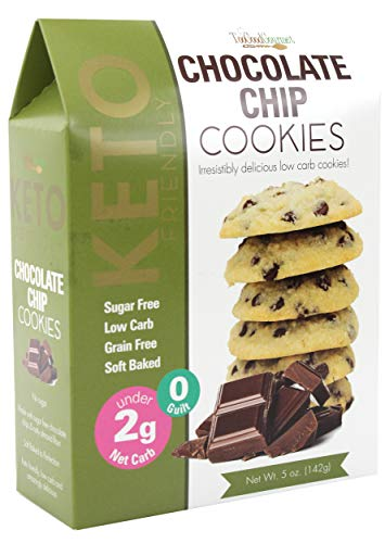 Too Good Gourmet Keto Cookies, Soft-Baked Healthy Snacks, Sugar and Grain-Free Low Carb Keto Snacks, Healthy Sweets with Less Than 2g Net Carbs (Cookies Variety Pack of 3, 5oz Boxes, Chocolate Chip)