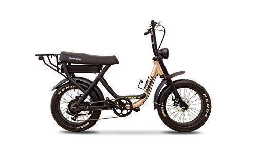 Argento Bicicletta elettrica Madmax Ruote Fat, Unisex Adulto, Nero, 57