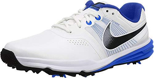 Nike Nike Herren Lunnar Command Golfschuhe, Weiß/Schwarz/Blau (Weiß/Schwarz-Lyon-Blau), 43 EU