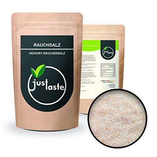 1 kg Rauchsalz | Hickory Style | 100% Vegan Grillen Aroma Grill | Meersalz Salz fein