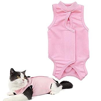 PPING Body Chien Body pour Chat Chien Costume Chirurgicale Après La Stérilisation Chat Manteaux pour Animaux de Compagnie Chien Récupération Costumes Pink,s