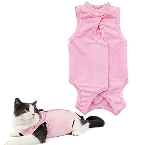 jieqing Katzenbody Nach Op op Body für Hunde Medizinisches Haustier Shirt Hund Medizinisches Haustierhemd klein Katzenkleidung Nur für Katzen pink,M