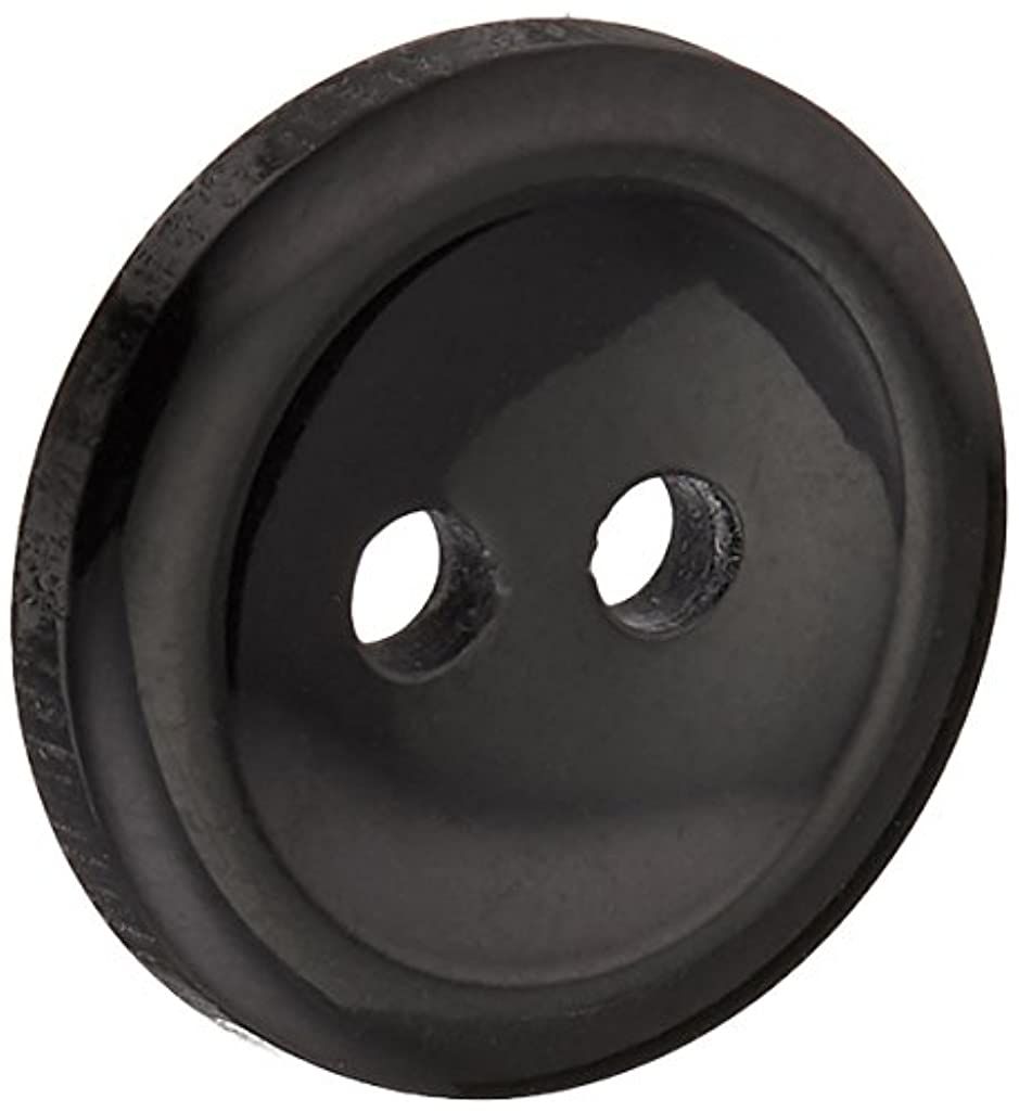Slimline Buttons Series 1-Black 2-Hole 9/16