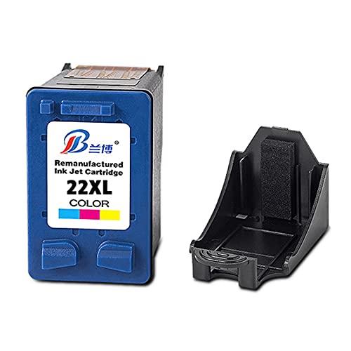 Reemplazo de Cartucho de Tinta Compatible para HP 21XL 22XL Alta Capacidad Adecuada para HP F2235 2180 2280 F370 D1341 1560 Impresora de inyección de Tinta,Tricolor
