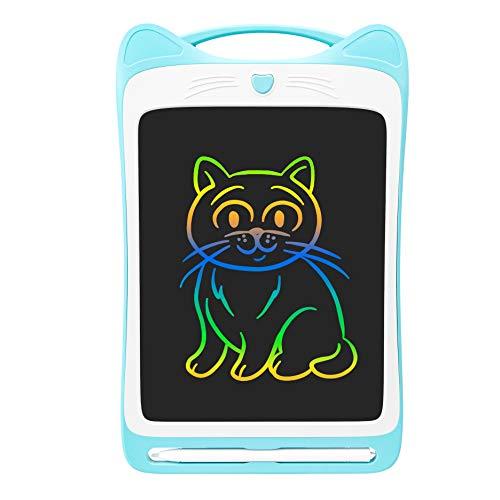 IPPON Pizarra multicolor LCD para niños de 8,5 pulgadas, tablet electrónica con texto más claro, pizarra digital con función antiaclaramiento para niños, color rosa
