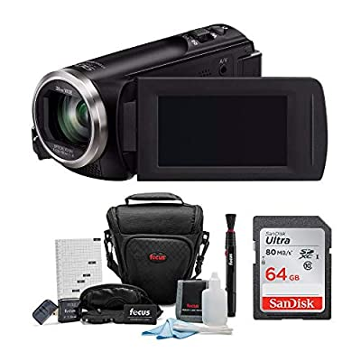Panasonic HC-V180K Full HD 1080p Camcorder with 64GB SD Card and Holster Case Accessory Bundle (3 Items) by Panasonic
