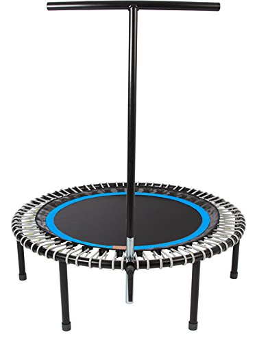 """bellicon Plus 44"""" with Screw-in Legs (Black Mat/Silver Bungees, Ultra-Strong Bungees (280-440 lbs))"""