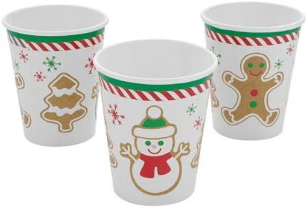 AllYourNeed 8pcs Gingerbread Party Bombing new work Paper Cups Branded goods