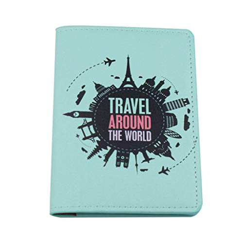 WT-DDJJK Soporte para Pasaporte, Multifuncional para Viajes, Pasaporte, Tarjeta de