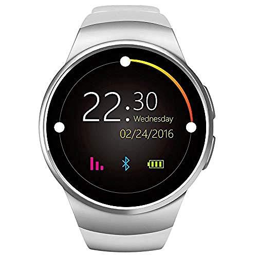 JSL Reloj inteligente con Bluetooth, reloj inteligente, pulsera inteligente, pulsera de actividad física, reloj inteligente Herzfrequenzmesser für con tarjeta de llamada