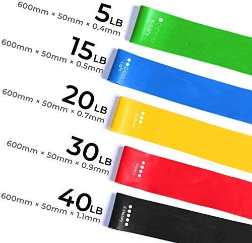 Resistance Bands Resistance Exercise Bands Set of 5 for Legs and Glutes Home Fitness Stretching product image