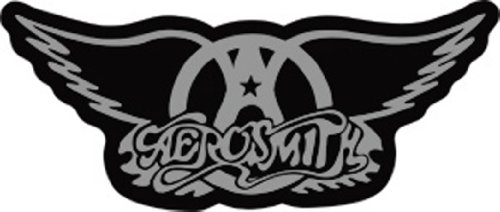 Licenses Products Aerosmith Winged Logo Sticker, Chrome