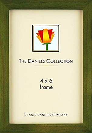 Dennis Daniels Gallery Woods Picture Frame, 4 x 6 Inches, Olive Green Finish