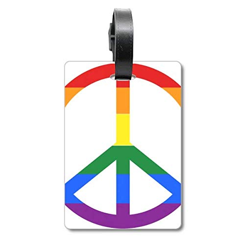 Rainbow Gay Lesbian Anti war LGBT Cruise Suitcase Bag Tag Tourister Identification Label