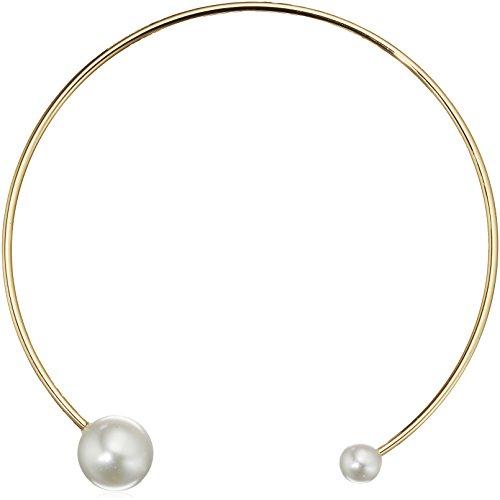 Rebecca Minkoff Sphere Collar Pearl Choker Necklace