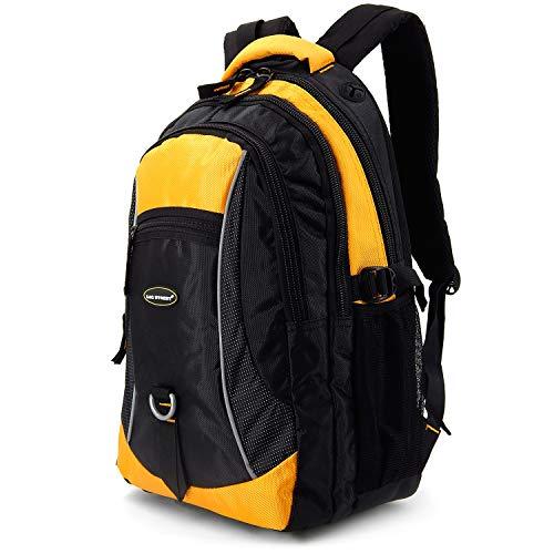 Lässige Rucksäcke für Alltag, Arbeit, Reisen & Schule - Wasserabweisend Jungen Teenager (Gelb)