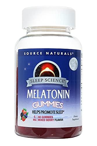Sleep Science Melatonin 5 mg Mixed Berry Source Naturals, Inc. 60 Gummy