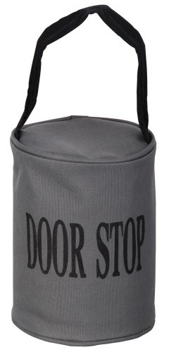 Esschert Design Türstopper, Türpuffer in grau, mit Schlaufe, ca. 13 cm x 13 cm x 16 cm