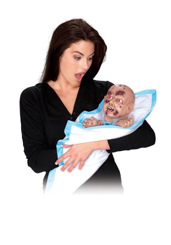 Spooky Moving Zombie Baby Halloween Prop
