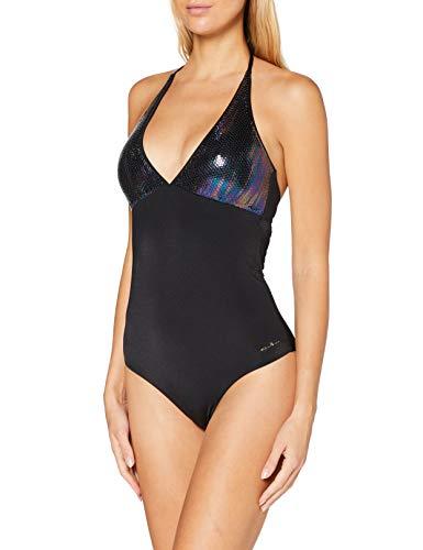 Emporio Armani Swimwear Damen Swimsuit Beachwear Mermaid Badeanzug, Schwarz (Nero 00020), 42 (Herstellergröße: XL)