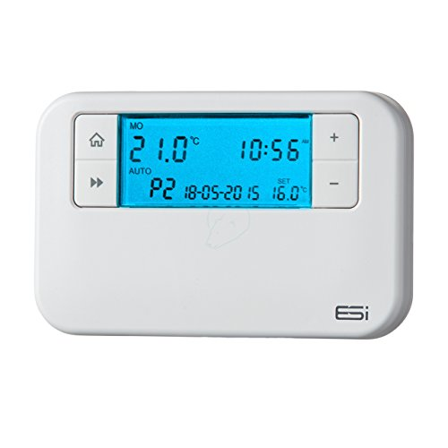 ESI - Energy Saving Innovation Controls ESRTP4 - Termostato programable con cable, Manual de Usuario en inglés, color blanco